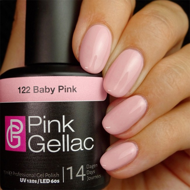 122 baby pink rosa shellac uv led gel nagellack polish pink gellac 15 ml neu ebay. Black Bedroom Furniture Sets. Home Design Ideas